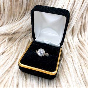 Jewelry - 14K GOLD CZ BRIDAL/ENGAGEMENT RING SET